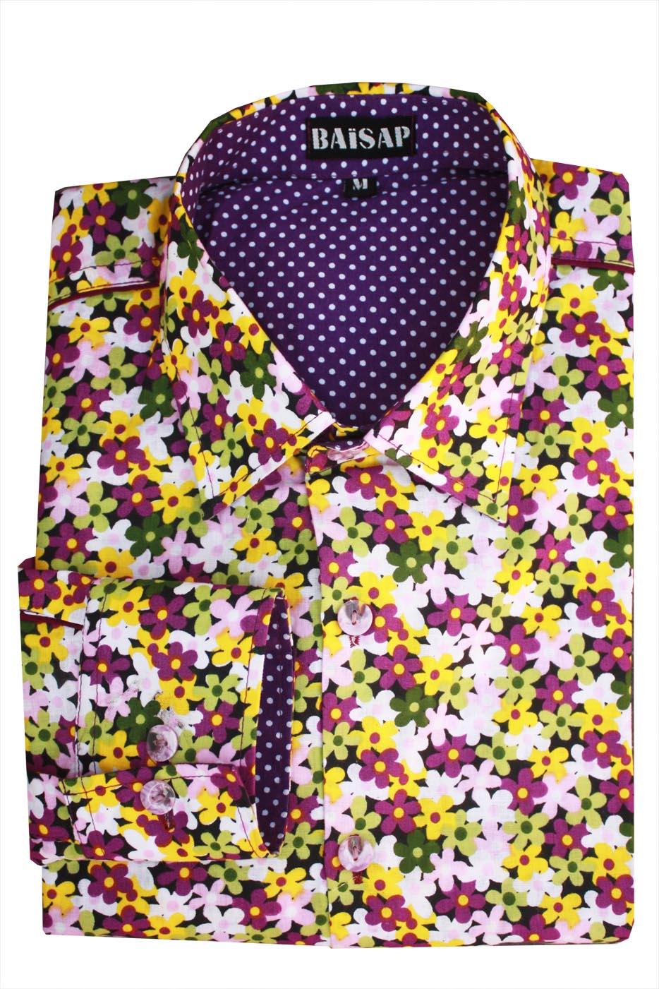chemise fleurs homme lilas ba sap. Black Bedroom Furniture Sets. Home Design Ideas