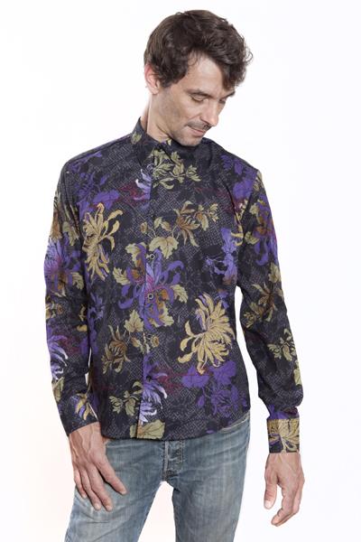 chemise homme fleurs glorieuse ba sap. Black Bedroom Furniture Sets. Home Design Ideas