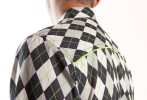Baïsap - Argyle shirt - Jacquard - Graphic dress shirts, gray checks - #2372