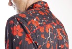 Baïsap - Red floral shirt mens - Red and black shirt - #2394