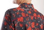 Baïsap - Red floral blouse - Black and red printed blouse - #2718