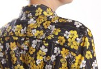 Baïsap - Yellow floral blouse - Black printed blouse for women - #2458