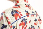 Baïsap - Cherry print blouse - Blue and red blouse - #2466
