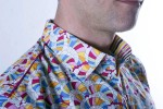 Baïsap - Rainbow dress shirt - Waves - Multicolor shirt for men, slim fit - #1479