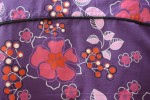 Baïsap - Purple floral shirt, short sleeve - Violet - Purple dress shirt men - #1132