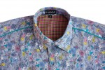 Baïsap - Mens fitted shirt – Fields Flowers - Mens floral shirts - #821