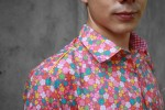 Baïsap - Pink floral shirt - Candy - Multicolor floral shirt - pink background - #1213