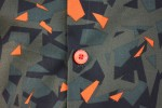 Baïsap - Camouflage Hemd - Orange - Khaki und orange geometrisches Muster - #1852