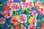 Baïsap - Vintage floral shirt mens - 70's Flowers - 70's big flowers pattern on sky blue - #1865