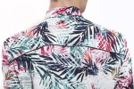 Baïsap - Leaves shirt - Bamboo - Palm print shirt for men - #2368