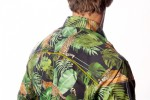 Baïsap - Black printed shirt - Grrr - Tropical shirts, leopard and jungle - #2610