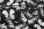 Baïsap - Butterfly shirts for men - Black and white butterfly printed cotton poplin - #1855