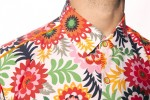 Baïsap - Mens floral shirts short sleeve - Pop - Vintage short sleeve button up - #2591