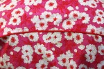 Baïsap - Japanese floral shirt, short sleeve - Pink floral shirt, cotton voile - #1579