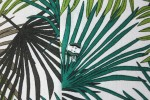 Baïsap - Palm shirt - Green leaves print on white rayon - #1831