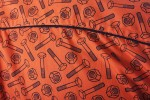 Baïsap - Orange short sleeve shirt - Bolt - Patterned dress shirts, slim fit - #1537