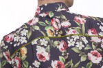 Baïsap - Purple floral shirt - Anemone - Slim fit short sleeve shirt - #2406