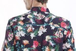 Baïsap - Beach shirts for men - Frangipani - Colorful viscose shirt half sleeve - #2530