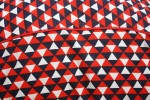 Baïsap - Red white and blue shirts - Triangles - Triangle pattern shirt, made out of viscose - #1869