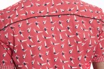 Baïsap - Red short sleeve shirt - Swimmer - Printed button up shirts for men - #2432