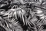 Baïsap - Black and White Palm Tree shirt - Palm leaf shirt for men, viscose made - #1817