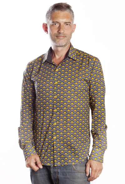 Baïsap - Scale shirt for men - Graphic button up shirts