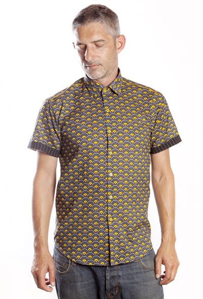 Baïsap - Mens beach shirts - Scale - Printed short sleeve shirts for men