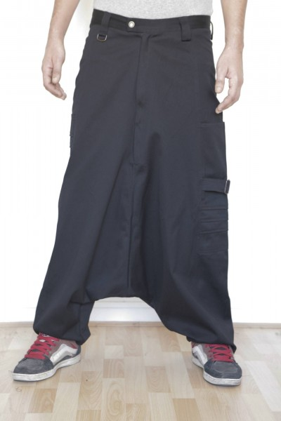Baïsap - Black Elephant harem pants - With a extra low crotch - Elephant harem pants are made from a thick cloth