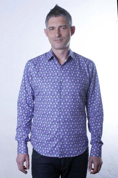 Baïsap - Flower shirt - Graphic - Poplin dress shirt, slim fit