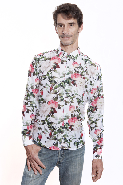 Baïsap - Roses dress shirt - White Roses - White floral shirt for men