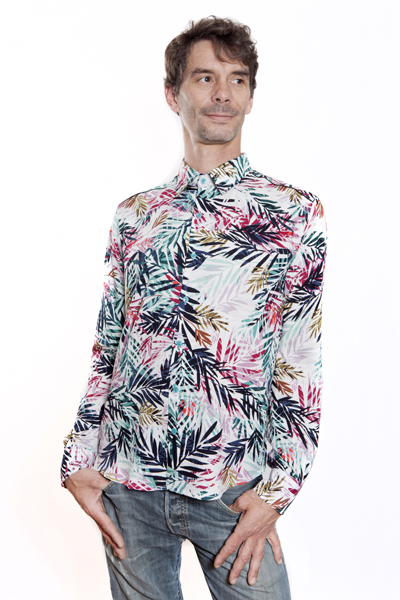 Baïsap - Leaves shirt - Bamboo - Palm print shirt for men