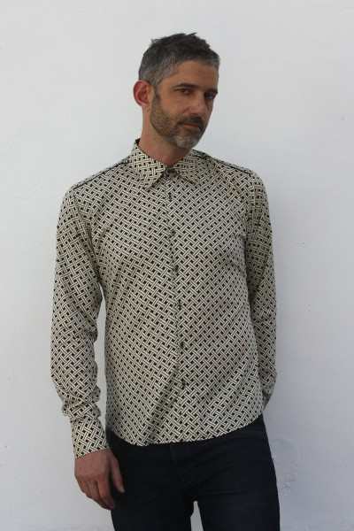 Baïsap - Printed shirts - Canework - Black & off white printed viscose shirts