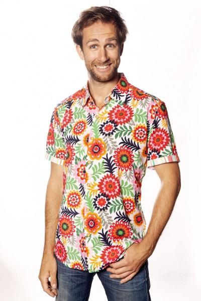 Baïsap - Mens floral shirts short sleeve - Pop - Vintage short sleeve button up