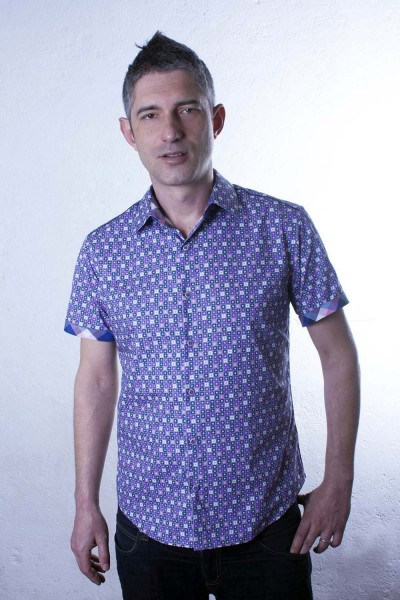 Baïsap - Floral short sleeve shirt - Graphic - Poplin dress shirt, slim fit