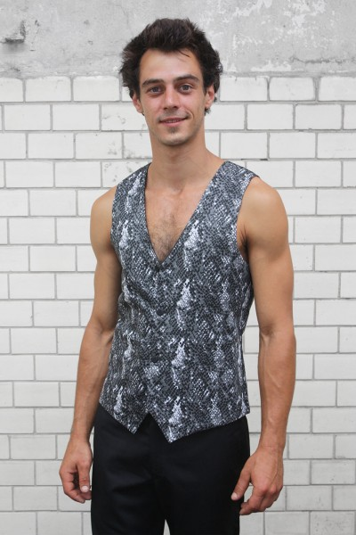 Baïsap - Snake print vest for men - Reversible waistcoat with snake pattern