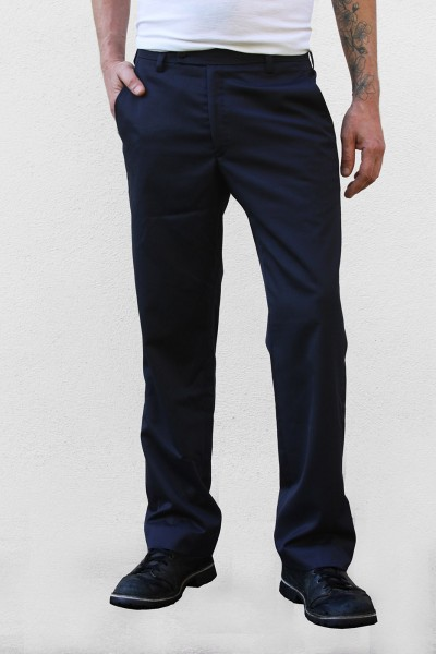 Baïsap - Dark blue slacks - Tea Time - Blue suit pants, bootcut