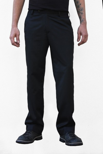 Baïsap - Black slacks - Serpent - Mens bootcut dress pants
