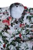 Baïsap - Roses dress shirt - White Roses - White floral shirt for men - #2342