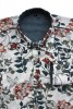 Baïsap - Mens floral dress shirts - Lily - Floral print on off-white light viscose - #1757