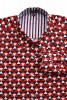 Baïsap - Red white and blue shirts - Triangles - Triangle pattern shirt, made out of viscose - #1868