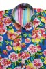 Baïsap - Vintage floral shirt mens - 70's Flowers - 70's big flowers pattern on sky blue - #1866