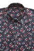 Baïsap - Liberty shirts, short sleeve - Small flowers pattern on marine blue background - #1801