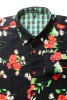 Baïsap - Poppies shirt for men - Red floral shirt - #2349
