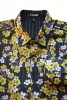 Baïsap - Cherry blossom shirt - Golden Blossom - Yellow floral shirt for men, light cotton - #1674