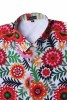 Baïsap - Mens floral shirts short sleeve - Pop - Vintage short sleeve button up - #2592