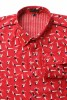 Baïsap - Red dress shirt - Swimmer - Printed button up shirts for men - #2363