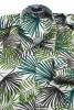 Baïsap - Palm shirt - Green leaves print on white rayon - #1830
