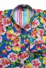 Baïsap - Vintage floral shirt mens - 70's Flowers - 70's big flowers pattern on sky blue - #1762
