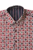 Baïsap - Red white and blue shirts mens, short sleeve - Retro - Thick poplin dress shirts - #2596