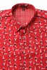 Baïsap - Red short sleeve shirt - Swimmer - Printed button up shirts for men - #2429